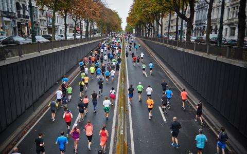 Spring sports; the Paris Marathon and the Jardin des Tuileries