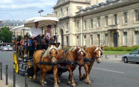 Paris by horse-drawn carriage; an unforgettable tour